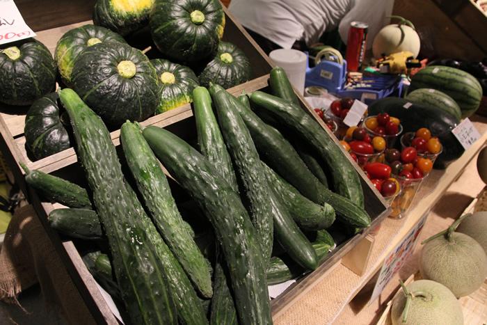 堀農園 新十津川町 野菜 きゅうり カボチャ
