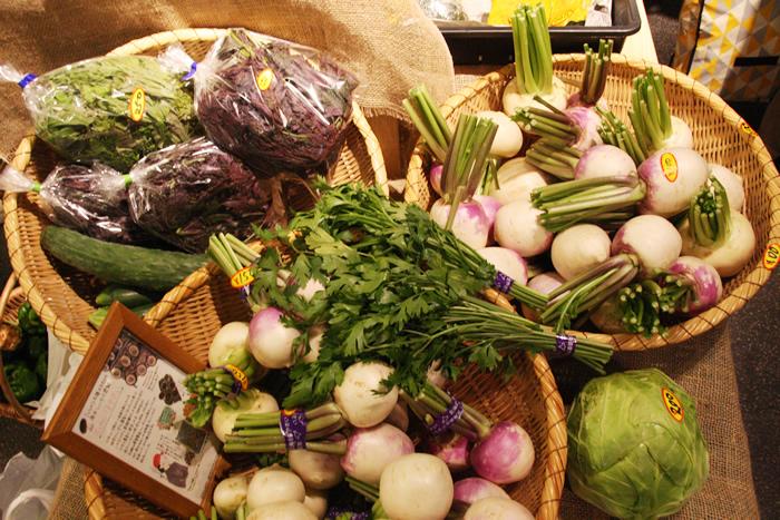 「花ときのこ」ほそがい 野菜 マルシェ